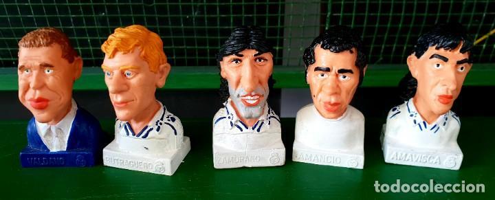 Figuras de Goma y PVC: Colección de 13 Figuras Históricas Bustos Real Madrid Cómics Spain - Foto 4 - 197413696