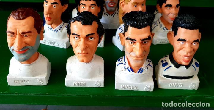 Figuras de Goma y PVC: Colección de 14 Figuras Históricas Bustos Real Madrid Cómics Spain - Foto 2 - 197417111