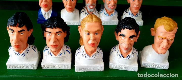 Figuras de Goma y PVC: Colección de 14 Figuras Históricas Bustos Real Madrid Cómics Spain - Foto 3 - 197417111