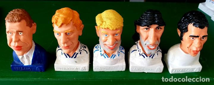 Figuras de Goma y PVC: Colección de 14 Figuras Históricas Bustos Real Madrid Cómics Spain - Foto 4 - 197417111