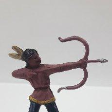 Figuras de Goma y PVC: GUERRERO INDIO CON ARCO . FIGURA REAMSA Nº 90 . AÑOS 50 EN GOMA . SERIE PEQUEÑA. Lote 197417998