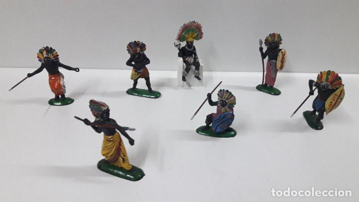 Figuras de Goma y PVC: GUERREROS Y REY - SERIE KAKUANAS . REALIZADOS POR PECH . AÑOS 50 EN GOMA - Foto 2 - 197426343