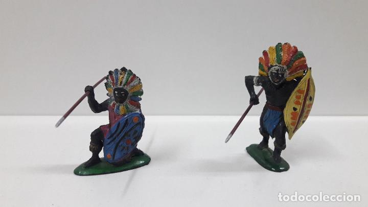 Figuras de Goma y PVC: GUERREROS Y REY - SERIE KAKUANAS . REALIZADOS POR PECH . AÑOS 50 EN GOMA - Foto 4 - 197426343
