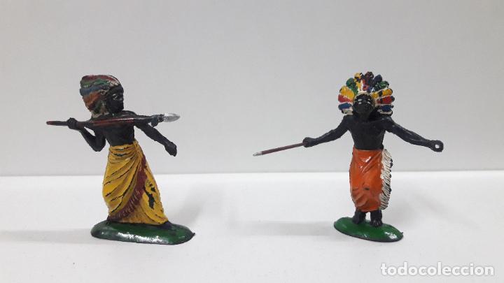 Figuras de Goma y PVC: GUERREROS Y REY - SERIE KAKUANAS . REALIZADOS POR PECH . AÑOS 50 EN GOMA - Foto 5 - 197426343