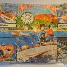 Figuras de Goma y PVC: ANTIGUO SOBRE DE MONTA-MAN LANCHA DE SALVAMENTO ,MONTAPLEX, VER DESCRIPCIÓN Y FOTOS. Lote 197462513