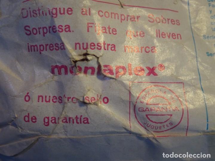 Figuras de Goma y PVC: ANTIGUO SOBRE DE MONTA-MAN LANCHA DE SALVAMENTO ,MONTAPLEX, VER DESCRIPCIÓN Y FOTOS - Foto 4 - 197462513