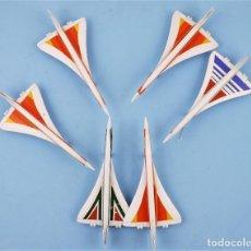 Figuras de Goma y PVC: AVIÓN CONCORDE LOTE DE 6 UNIDADES CCA 1980. Lote 197664947