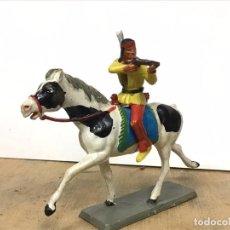 Figuras de Goma y PVC: FIGURA INDIO STARLUX OESTW WESTERN NO REAMSA JECSAN COMANSI LAFREDO TEIXIDO BRITAINS . Lote 197966752