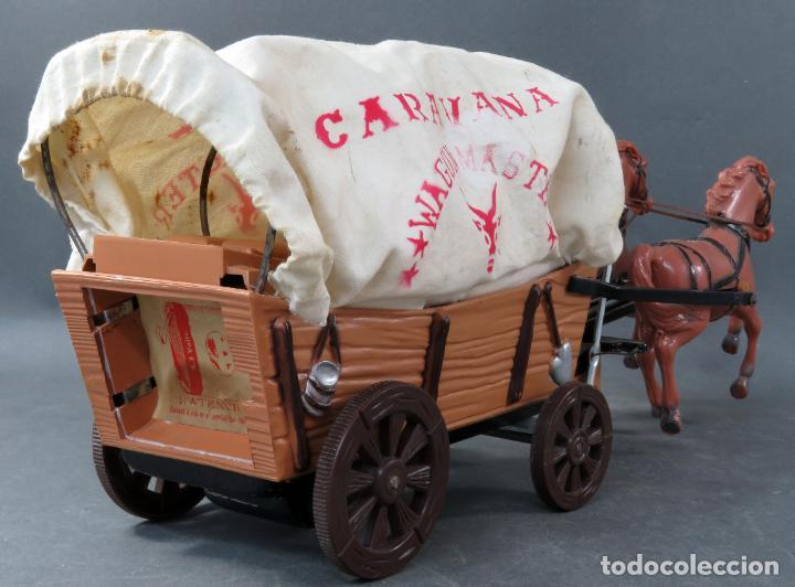 Figuras de Goma y PVC: Caravana de Vicma Wagon Master con caballos y conductor años 60 usada - Foto 7 - 198191627