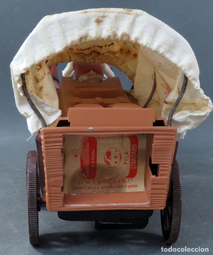 Figuras de Goma y PVC: Caravana de Vicma Wagon Master con caballos y conductor años 60 usada - Foto 8 - 198191627