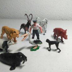 Figuras de Goma y PVC: FIGURAS DE PVC GOMA ANIMALES DE ZOOLOGICO. Lote 198249075