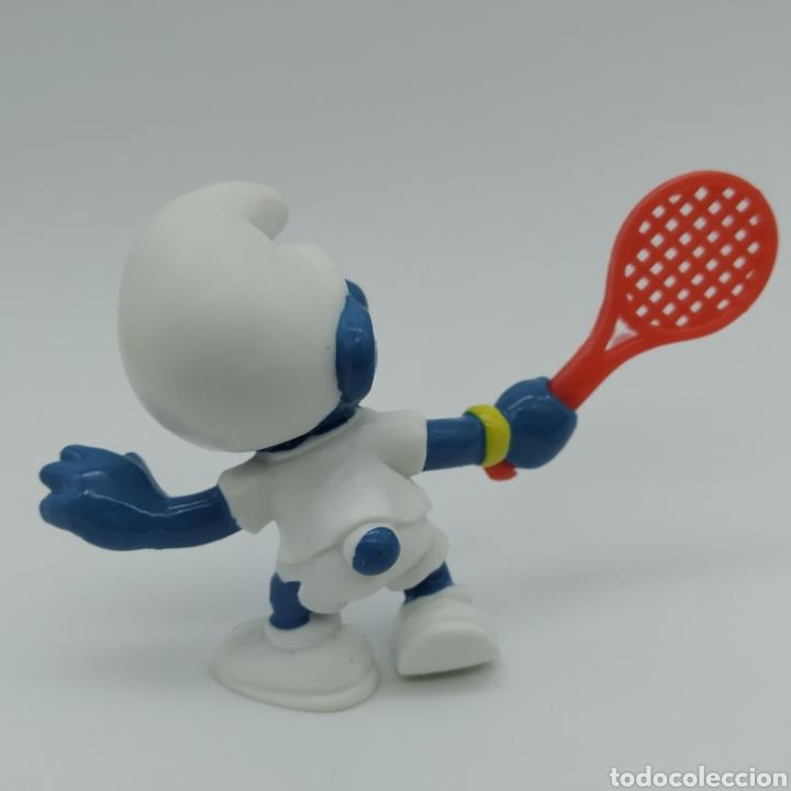 Figuras de Goma y PVC: Pitufo tenista - PEYO 1979 - Foto 2 - 198338350
