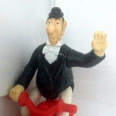 Figuras de Goma y PVC: MAYORDOMO ARISTOGATOS EN MOTOCICLETA MARCA DISNEY. Lote 198405352