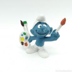 Figuras de Goma y PVC: PITUFO PINTOR, ARTISTA - PEYO SIN FECHA - AÑOS 80. Lote 198430512