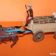 Figuras de Goma y PVC: CARRETA DEL OESTE. COMANSI AÑOS 60. EXCELENTE. PINTURA ORIGINAL. PLASTICO. VER FOTOS.. Lote 198556707