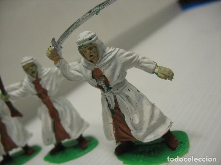 Figuras de Goma y PVC: lote de 9 figuras de plastico tipo musulman en batalla - Foto 4 - 198661856