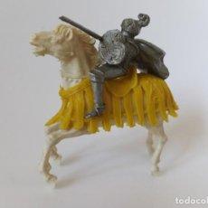 Figuras de Goma y PVC: FIGURA CABALLERO MEDIEVAL RELIGIÓN. Lote 198750027