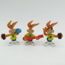 Figuras de Goma y PVC: LOTE DE 3 FIGURAS PREMIUM DE NESQUICK, QUICKY. Lote 198763751