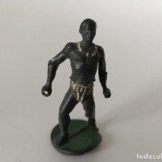 Figuras de Goma y PVC: FIGURA NEGRO SAFARI GOMA. Lote 198825930