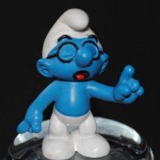 Figuras de Goma y PVC: FIGURA PITUFO GOMA SABIO SCHLEICH PEYO. Lote 198924931