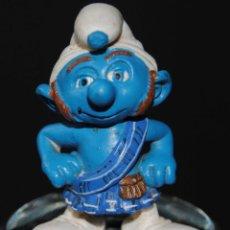 Figuras de Goma y PVC: FIGURA PITUFO GOMA ESCOCES SCHLEICH PEYO. Lote 198925527
