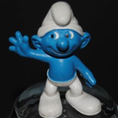 Figuras de Goma y PVC: FIGURA PITUFO GOMA FELIZ SCHLEICH PEYO. Lote 198925622