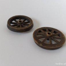 Figuras de Goma y PVC: RUEDAS CARRETA PECH, JECSAN... Lote 198945106