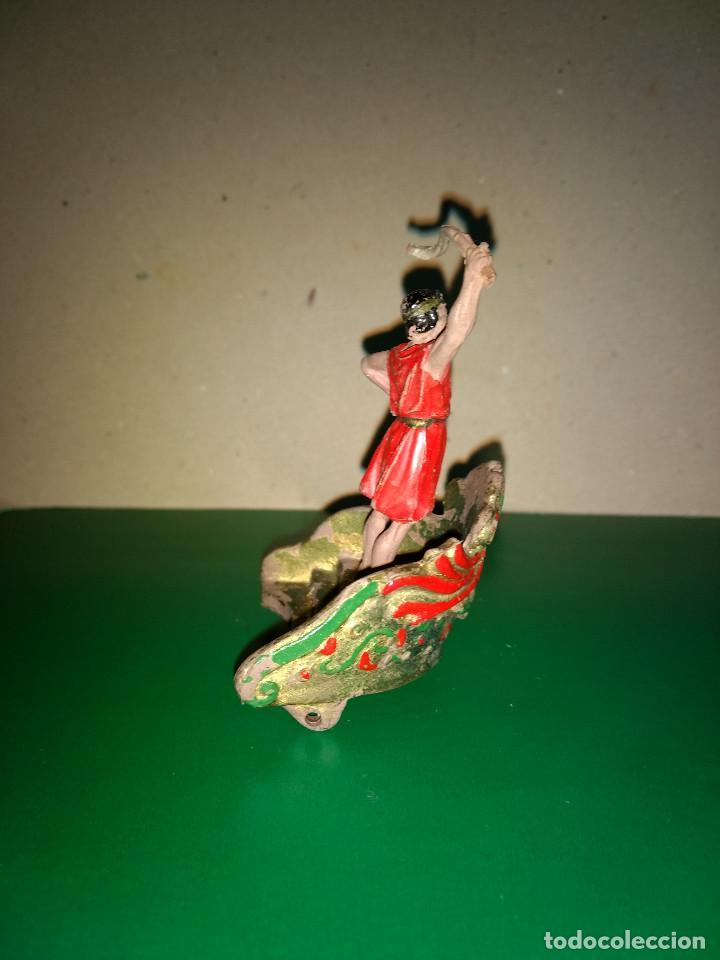 Figuras de Goma y PVC: FIGURA Y CARRO REAMSA EN GOMA SERIE BEN HUR CONDUCTOR DE CUADRIGA ORIGINAL 1960 - Foto 3 - 198947597