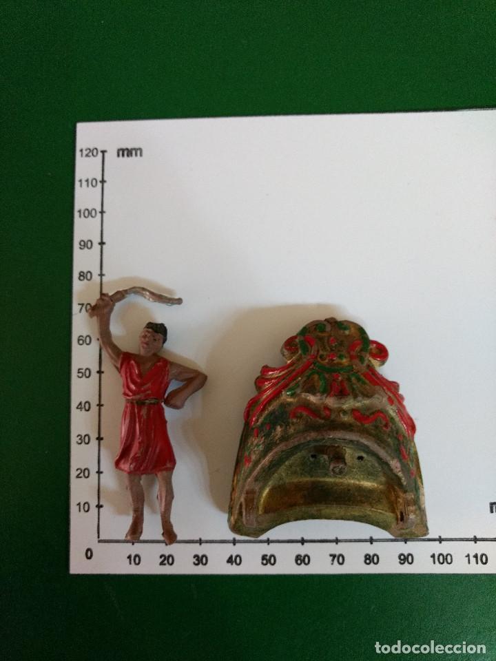 Figuras de Goma y PVC: FIGURA Y CARRO REAMSA EN GOMA SERIE BEN HUR CONDUCTOR DE CUADRIGA ORIGINAL 1960 - Foto 4 - 198947597