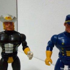 Figuras de Goma y PVC: 2 MUÑECOS SPEARHEARD. PVC ARTICLADOS I CABEZA DE GOMA ANTIGUOS. Lote 199081717