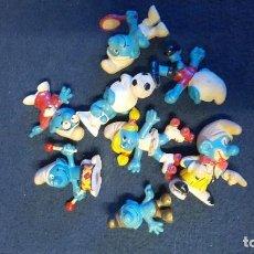 Figuras de Goma y PVC: LOTE DE PITUFOS ANTIGUOS. Lote 199101502