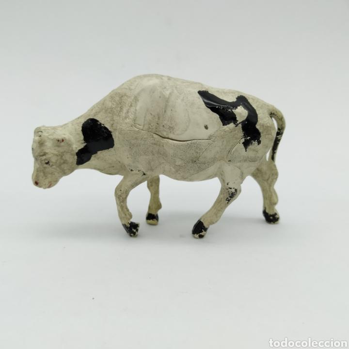 Figuras de Goma y PVC: Lote de 3 vacas, reses, Ganado oeste de Reamsa años 50 - Foto 2 - 199155577