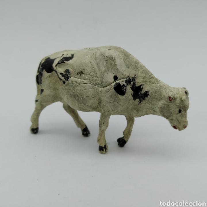 Figuras de Goma y PVC: Lote de 3 vacas, reses, Ganado oeste de Reamsa años 50 - Foto 3 - 199155577