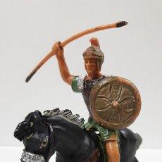 Figuras de Goma y PVC: LEGIONARIO ROMANO A CABALLO . REALIZADO POR JECSAN . AÑOS 60. Lote 199361032