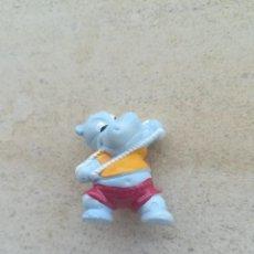 Figuras Kinder: SIMPATICA FIGURITA KINDER HIPOPOTAMO GIMNASIA MUSCULOS. Lote 199412986