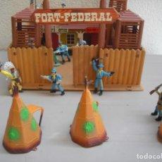 Figuras de Goma y PVC: FORT FEDERAL DE COMANSI CON FIGURAS. Lote 199453437