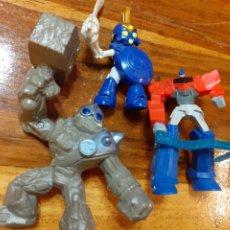 Figuras de Goma y PVC: LOTE 4 MUÑECOS (ROBOTS) SKY LANDER Y OTROS CON MOVIMIENTO. Lote 199521145