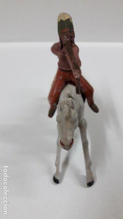 Figuras de Goma y PVC: GUERRERO INDIO A CABALLO . REALIZADO POR REAMSA . AÑOS 50 EN GOMA - Foto 5 - 199585627