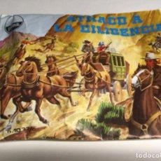 """Figuras de Goma y PVC: MONTA/PLEX - HOBBY-PLÁST """" ATRACO A LA DILIGENCIA """" (REF.1) VER DESCRIPCIÓN , CONTENIDO NO ORIGINAL. Lote 199737003"""