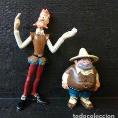 Figuras de Goma y PVC: DON QUIJOTE Y SANCHO PANZA. FIGURAS COMICS SPAIN . PINTADAS A MANO (1979) ETAPA EURA GOMA. Lote 199991902