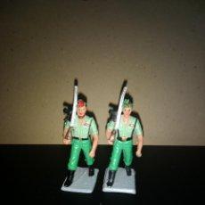 Figuras de Goma y PVC: REAMSA 2 LEGIONARIOS EJERCITO ESPAÑOL DESFILE EN GOMA AÑOS 60-70. Lote 200082568