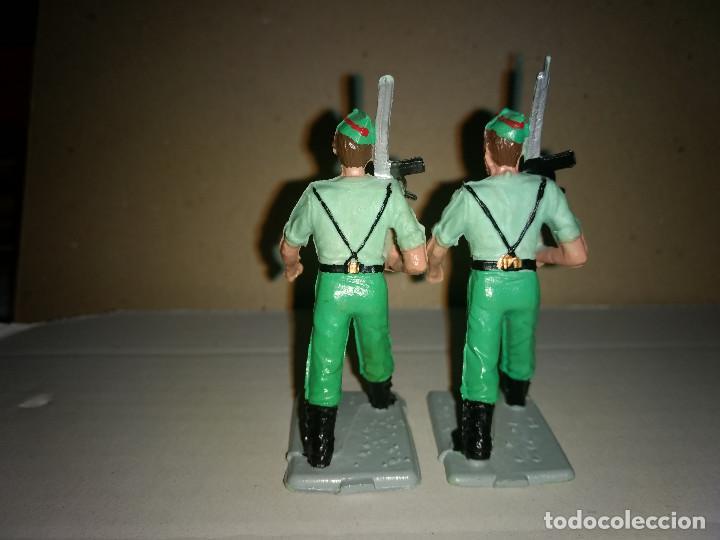 Figuras de Goma y PVC: REAMSA 2 LEGIONARIOS EJERCITO ESPAÑOL DESFILE EN GOMA AÑOS 60-70 - Foto 2 - 200082568