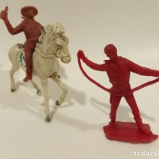 Figuras de Goma y PVC: FIGURAS VAQUEROS PECH SERIE GRANDE. Lote 200302545