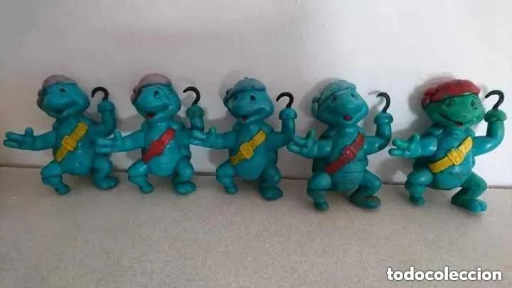 OCASION LOTE DE TORTUGAS PIRATA FIGURAS GOMA PLASTICO MACIZAS MUY PESADAS ORIGINALES AÑOS 80 PVC (Juguetes - Figuras de Goma y Pvc - Otras)