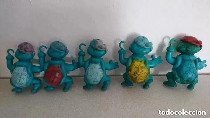 Figuras de Goma y PVC: ocasion lote de tortugas pirata figuras goma plastico macizas muy pesadas originales años 80 pvc - Foto 2 - 200331772