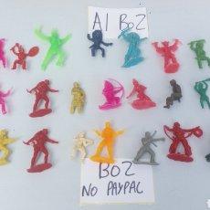Figure di Gomma e PVC: LOTE 21 MUÑECO INDIO VAQUERO SOLDADO ALGUNOS PARECEN ANTIGUOS VER FOTOS ESTADO LA GRAN MAYORÍA TARA. Lote 200632337