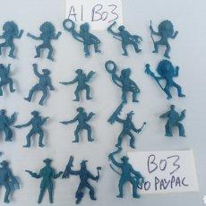 Figure di Gomma e PVC: LOTE 19 INDIO VAQUERO OESTE CON DEFECTOS DESCONOZCO MARCAS VER FOTOS ESTADO. Lote 200633720