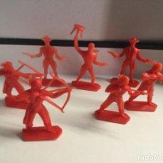 Figuras de Goma y PVC: 7 INDIOS Y VAQUEROS DE KIOSCO AÑOS 80 , SON LOS QUE SALÍAN DENTRO DE LOS SOBRE SORPRESAS . Lote 200760950