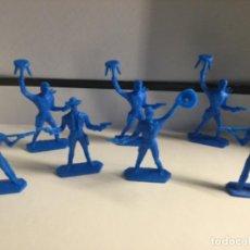 Figuras de Goma y PVC: 7 INDIOS Y VAQUEROS DE KIOSCO AÑOS 80 , SON LOS QUE SALÍAN DENTRO DE LOS SOBRE SORPRESAS . Lote 200761101