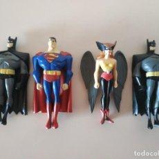 Figuras de Goma y PVC: LOTE DE 4 FIGURAS MARVEL PVC JUSTICE LEAGUE TM & DC COMICS. Lote 200848292